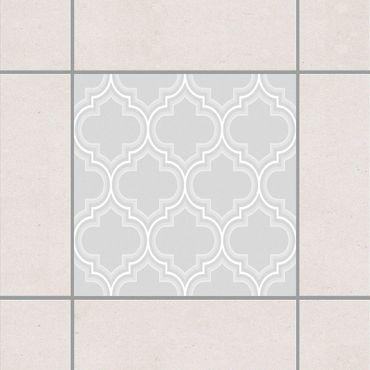 Fliesenaufkleber - Retro Marokko Light Grey Grau