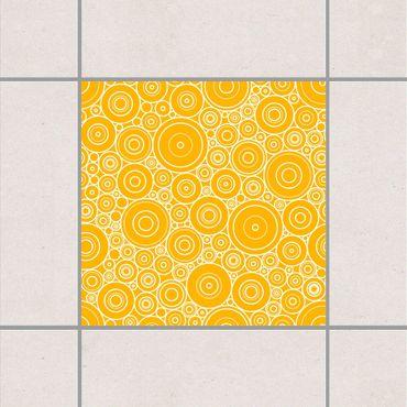 Fliesenaufkleber - Sezession Lemon Yellow Gelb