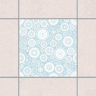 Fliesenaufkleber - Sezession White Light Blue Blau