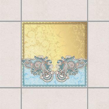 Fliesenaufkleber - Stamp Pattern
