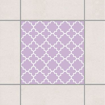 Fliesenaufkleber - Traditional Quatrefoil Lavender Flieder