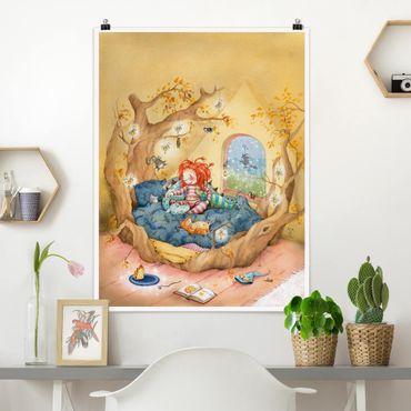 Poster - Frida kuschelt mit ihren Freunden - Hochformat 3:4