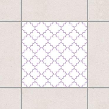 Fliesenaufkleber - Traditional Quatrefoil White Lavender