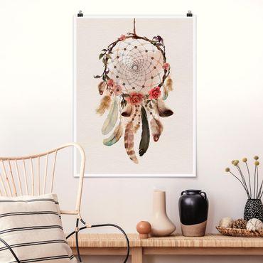 Poster - Traumfänger mit Perlen - Hochformat 3:4