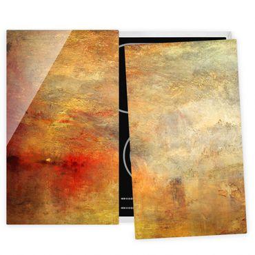 Herdabdeckplatte Glas - Joseph Mallord William Turner - Sonnenuntergang über einem See - 52x80cm
