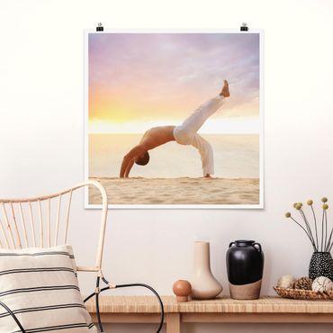 Poster - Yoga in the Morning - Quadrat 1:1