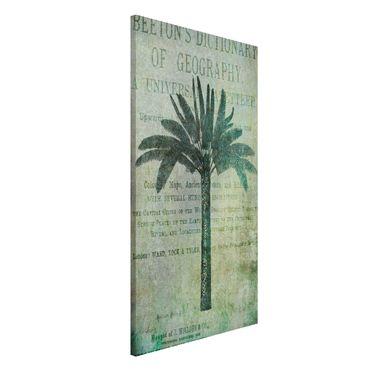 Magnettafel - Vintage Collage - Antike Palme - Memoboard Hochformat 4:3