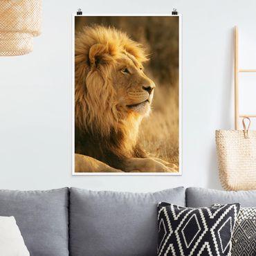 Poster - Löwenkönig - Hochformat 3:2