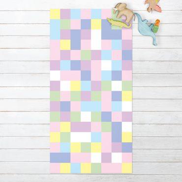 Vinyl-Teppich - Buntes Mosaik Zuckerwatte - Hochformat 1:2