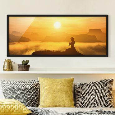 Bild mit Rahmen - Yoga Meditation - Panorama Querformat