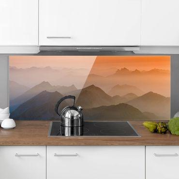 Spritzschutz Glas - Blick von der Zugspitze - Panorama - 5:2