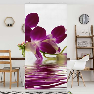 Raumteiler - Pink Orchid Waters 250x120cm