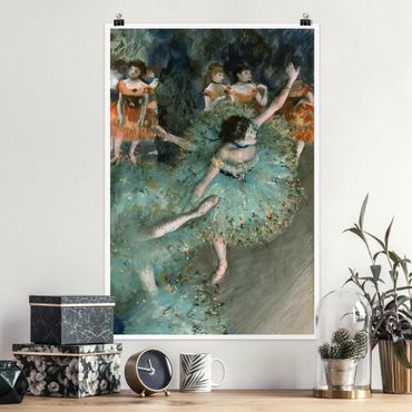 Poster - Edgar Degas - Tänzerinnen in Grün - Hochformat 3:2