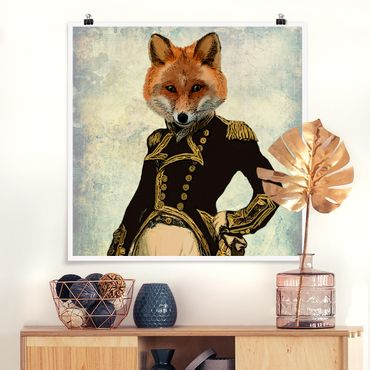 Poster - Tierportrait - Fuchsadmiral - Quadrat 1:1