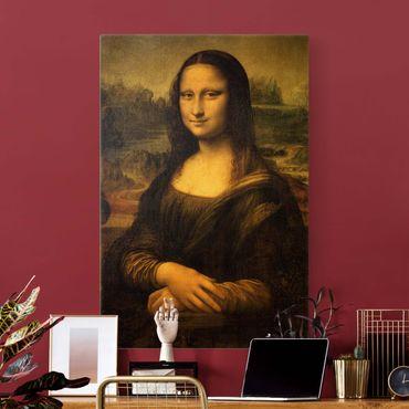 Leinwandbild Gold - Leonardo da Vinci - Mona Lisa - Hochformat 2:3