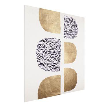 Forex Fine Art Print - Geometrischer Halbkreis III - Quadrat 1:1