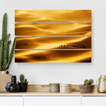Holzbild - Golden Dunes - Querformat 2:3