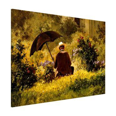 Magnettafel - Carl Spitzweg - Der Maler im Garten - Memoboard Querformat 3:4