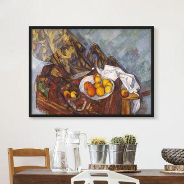 Bild mit Rahmen - Paul Cézanne - Stillleben Früchte - Querformat 3:4