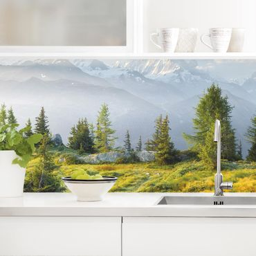 Küchenrückwand - Émosson Wallis Schweiz