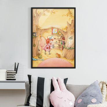 Bild mit Rahmen - Frida sucht ihre Sachen - Hochformat 3:4