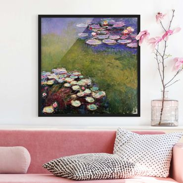 Bild mit Rahmen - Claude Monet - Seerosen - Quadrat 1:1