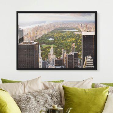Bild mit Rahmen - Blick über den Central Park - Querformat 3:4