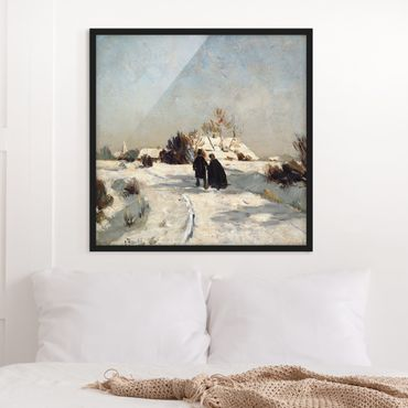 Bild mit Rahmen - Otto Modersohn - Neujahrstag - Quadrat 1:1