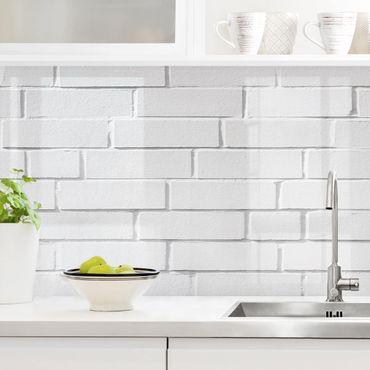 Küchenrückwand - White Stonewall