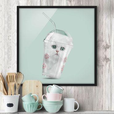 Bild mit Rahmen - Jonas Loose - Shake mit Katze - Quadrat 1:1