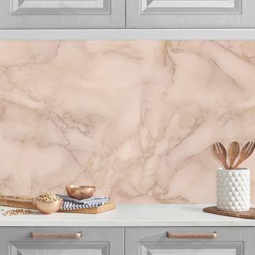 Küchenrückwand - Marmoroptik Grau Braun
