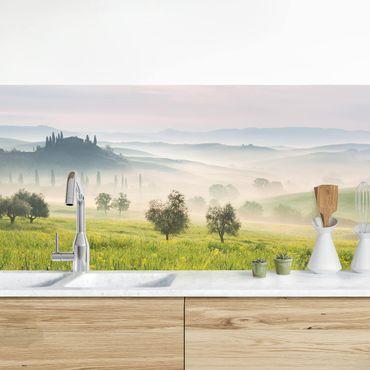 Küchenrückwand - Toskana Frühling