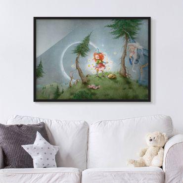 Bild mit Rahmen - Frida lässt die Sterne frei - Querformat 3:4