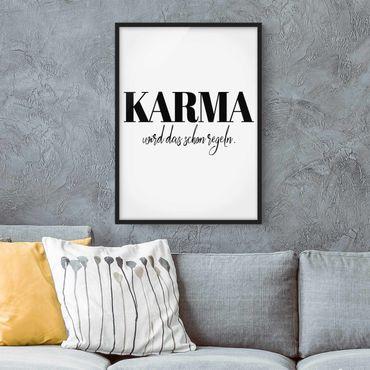 Bild mit Rahmen - Karma wird das schon regeln - Hochformat 3:4