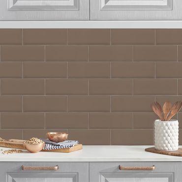 Küchenrückwand - Keramikfliesen Graubraun