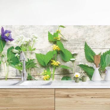 Küchenrückwand - Heil und Wiesenkräuter