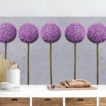 Küchenrückwand - Allium Kugel-Blüten
