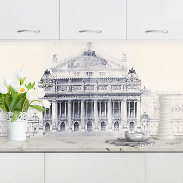 Küchenrückwand - Prix de Rome Skizze II