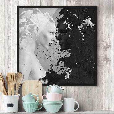 Bild mit Rahmen - Milk & Coffee II - Quadrat 1:1