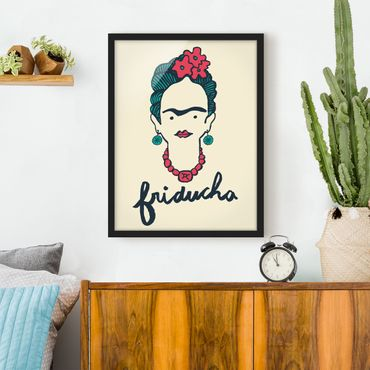 Bild mit Rahmen - Frida Kahlo - Friducha - Hochformat 3:4