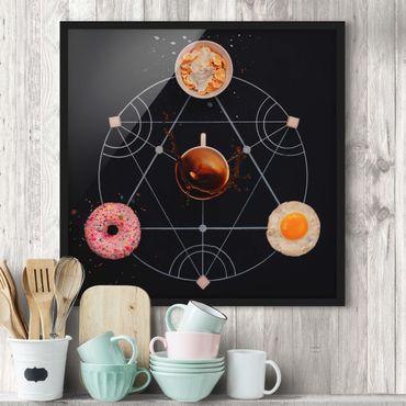 Bild mit Rahmen - Alchemie des Frühstücks - Quadrat 1:1
