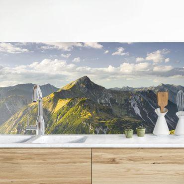 Küchenrückwand - Berge und Tal der Lechtaler Alpen in Tirol