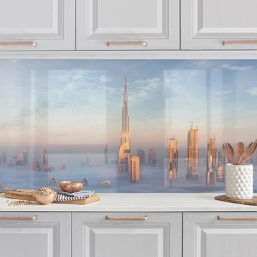 Küchenrückwand - Dubai über den Wolken
