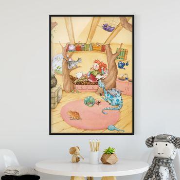 Bild mit Rahmen - Frida erzählt vom Hexentreffen - Hochformat 3:4