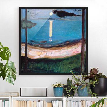 Bild mit Rahmen - Edvard Munch - Mondnacht - Quadrat 1:1