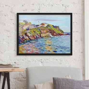 Bild mit Rahmen - Wassily Kandinsky - Bucht Rapallo - Querformat 3:4
