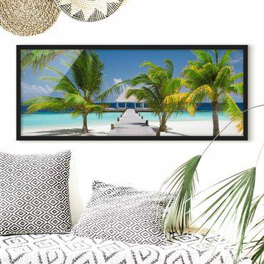 Bild mit Rahmen - Catwalk to Paradise - Panorama Querformat