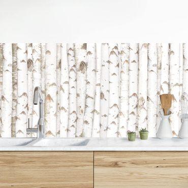 Küchenrückwand - No.YK15 Birkenwand II