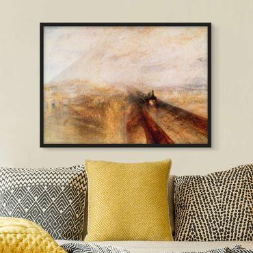 Bild mit Rahmen - William Turner - Regen - Querformat 3:4