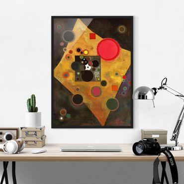 Bild mit Rahmen - Wassily Kandinsky - Akzent in rosa - Hochformat 3:4